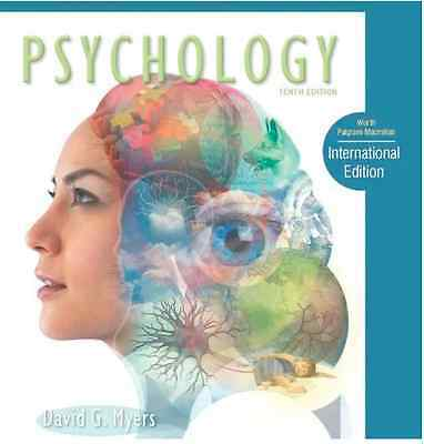 PSYCHOLOGY 10th EDITION by David Myers with FREE STUDY GUIDE book Paperback