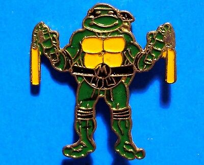 Teenage Mutant Ninja Turtles - Michelangelo - Vintage Lapel Pin - Pinback - # D