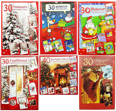 CHRISTMAS CARDS - Photographic/Humour/Traditional/Bumper Box Assortments (30/40)