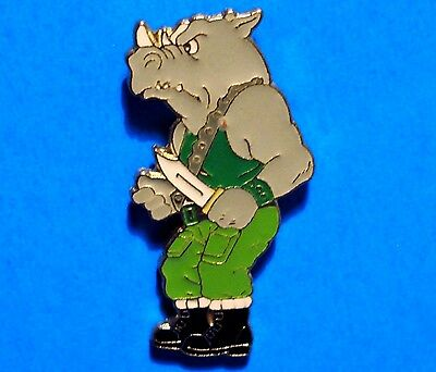Teenage Mutant Ninja Turtles - Rocksteady - Rhino - Rare Vintage 1990 Lapel Pin