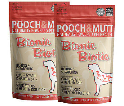POOCH AND MUTT | BIONIC BIOTIC | Dog supplement for itchy skin (200g) - 2 pack