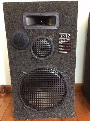"""Acoustic Studio Monitor 3312 Loud Speakers x2, Made in USA.  150W. 12"""" subwoofer"""