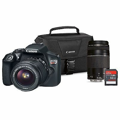 Canon EOS Rebel T6 DSLR Camera Lens Bundle with EF-S 18-55mm IS and EF75-300 III