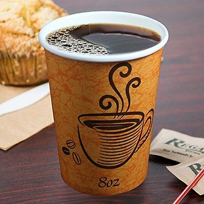 Paper Coffee/Tea Cups Disposable Parties Events Hot & Cold Drinks 100/50 X 8oz