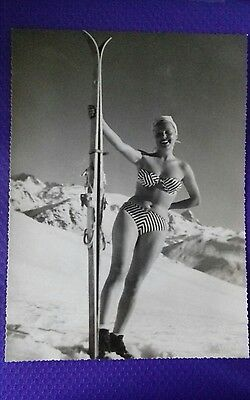 Superbe Photo Ancienne Années 1950, Style Pin Up, Tirage Original