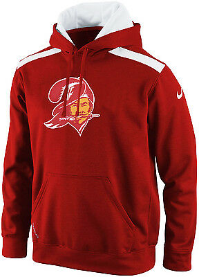 Nike Tampa Bay BUCCANEERS Bucco Bruce Shield Nailhead ThermaFIT Hoodie Red SMALL