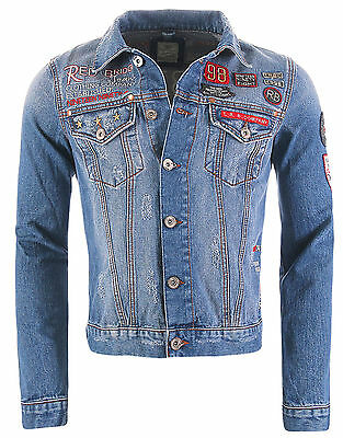 Redbridge Herren Jeans Jacke mit Patches Denim jacket RB7501