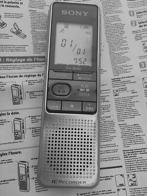 Sony dictaphone ICD-B600 IC Digital Voice Recorder Vintage Collector De 1980