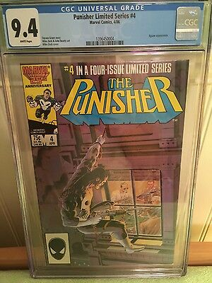 the punisher 4 limited series cgc 9.4 white pages