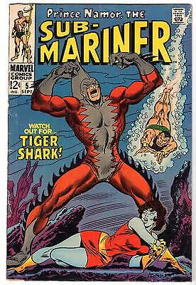 Sub-Mariner #5 - First Appearance of Tiger Shark, Very Fine Condition.