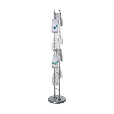 Leaflet Display Stand With 8 x A5 Dispensers Free Standing Brochure Stand