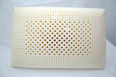 latex pillow 100% natural latex & cotton inner zippered cover 60*40*12.5 cm soft