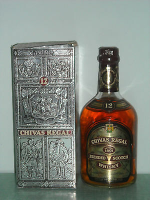 Chivas Regal blended scotch whisky 12 years old  cl. 75 gradi 43 con box