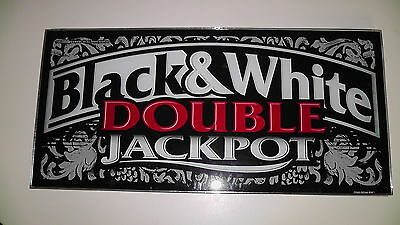 Black & White Double Jackpot Las Vegas Slot Glass