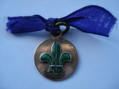 V.rare 1922 9Ct Gold Medallion Awarded By The Chief Scout Robert Baden Powell