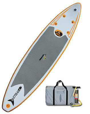 Advanced Elements FISHBONE Inflatable Paddle Board w/Displacement Hull & Pump