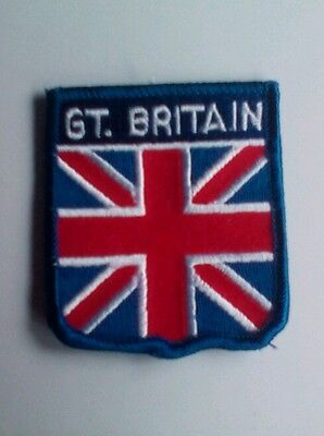 Union Jack  Flag  Great Britain Embroidered sew on Patch Badge shield