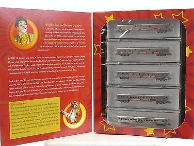 Ringling Bros Circus Micro-Trains 99401100 Five Car Passenger Train Set Z Scale