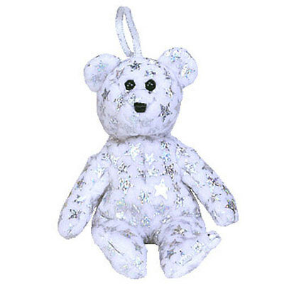 TY Jingle Beanie Baby - THE BEGINNING  Bear (5.5 inch) - MWMTs Ornament Toy
