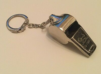 Whistle Referee Lifeguards Sports Metal Blowing Whistles Keyring
