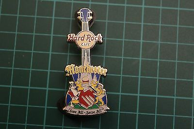 Hard Rock Cafe pin, Manchester love all serve all