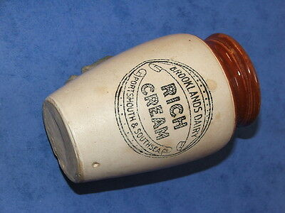 Rare Brooklands Dairy Portsmouth And Soutsea Cream Pot Hampshire