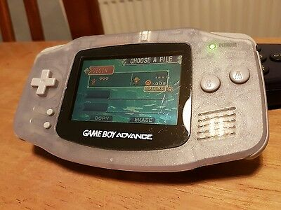 Nintendo Gameboy Advance glacier clear *TESTED*WORKING*
