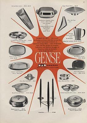1962 Gense of Sweden Stainless flatware and Pots and Pans PRINT AD