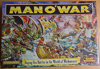 Warhammer MAN O'WAR 0141 Games Workshop Boardgame (Mint, Sealed)