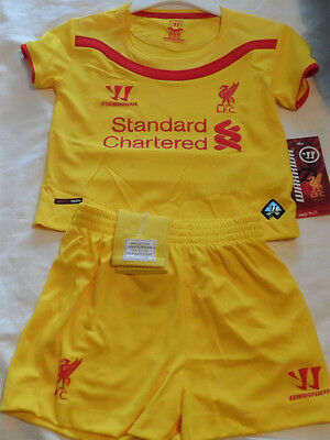 Liverpool  Baby Mini Kit 2014/15 Age 3-6 Months (Euro 68cm) WSTB402 Yellow