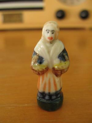 Vintage French King Cake Baby-Feve-Lady Double Basket-Mardi Gras-New Orleans-6W