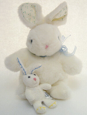 PAT the BUNNY Vintage 1992 Baby Gund & Baby Gap White Bunny Finger Puppet