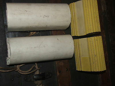 """Rubber Wheel Chocks PAIR 8"""" Great Safey item for RV Trailer, etc, NO RESERVE"""