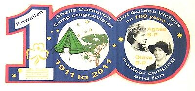 Special 2011 CENTENARY of GIRL GUIDES VICTORIA BADGE, Agnes & Olave Baden-Powell