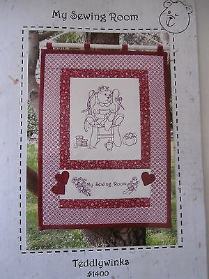 """ MY SEWING ROOM "" WALLHANGING  PATTERN... by Teddywinks..preprinted fabric"