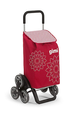 Steel Red Shopping Trolley Fashion Gimi Tris Floral Womens Strong Secure Basket