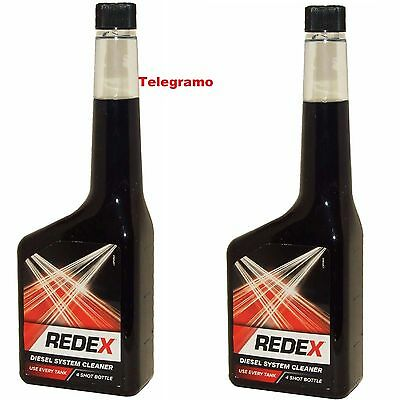 2 x 500ml Redex One Shot Diesel Fuel Engine Cleaner Injection Redx Red x Diesel