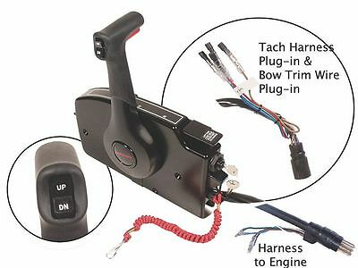 OEM Mercury Marine Outboard Side Mount Remote Control 15' Harness 881170A15