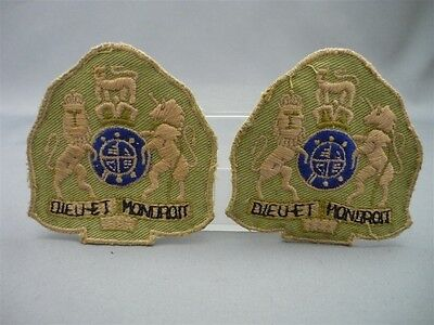 Pair of British Royal Monarch Embroidered Uniform Patches