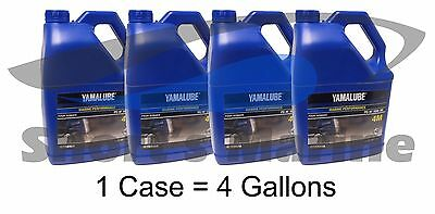 Yamaha Yamalube 4M Outboard FC-W 10W-30 Four Stroke Engine Oil Case of 4 Gallons