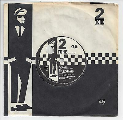 """THE SPECIALS Rat Race - RARE 1980 2 Tone 7"""" With Paper Labels - VG+ Condition!!"""