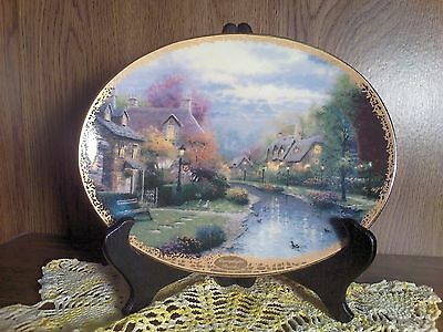 "Thomas Kinkade's ""Lamplight Brooke"" Collector's Plate, Plate No. 3509A"