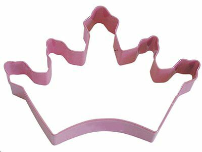 """Crown Princess Cookie Cutter 5"""" Pink Tiara Queen Fondant Party Decorate Baking"""