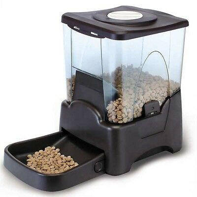 Automatic Food Pet Feeder Dog Cat Large Capacity Portable Feeding 10.65 L Dogs