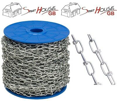 STRONG Heavy Duty Galvanised Steel Knotted Chains DIN 5686 Zinc Plated Side
