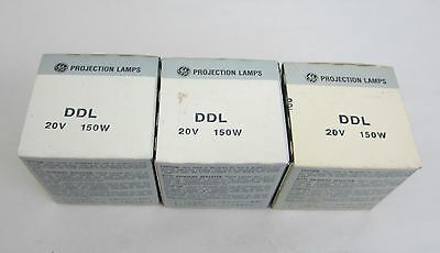 Ddl Projector Projection Lamp Bulb Ge 150W / 20V Lot Of 3