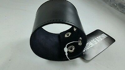 Punk System Of A Down Black Leather Wristband **NEW**
