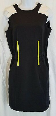 EP Pro Stretch Womens Small Domino Effect Black White Golf Dress NWT