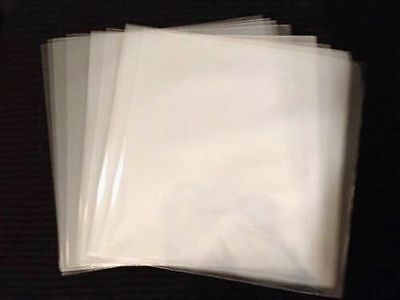 """100 Clear Plastic Outer Sleeves for 45 RPM 7"""" Vinyl Records - High Quality Poly"""