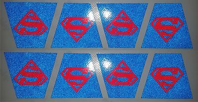 Superman Firefighter Fire Helmet 8 Pack Tetrahedrons Trapezoid Tets Custom